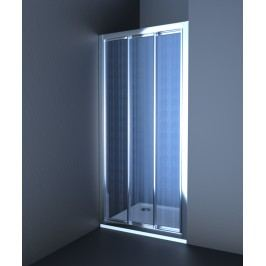 Sprchové dvere Anima Epd posuvné 100 cm, nepriehľadné sklo, chróm profil EPD100CRCH