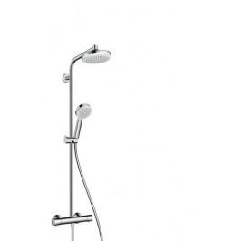 Sprchový systém Hansgrohe Crometta s termostatickou batériou, 4 funkcie, oblý 27264400