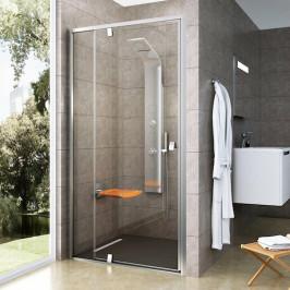 Sprchové dvere Ravak Serie 300 jednokrídlové 100 cm, sklo číre, satin profil PDOP2100TS