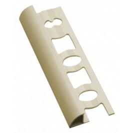 Lišta ukončovacia oblá PVC slonová kosť, dĺžka 250 cm, výška 8 mm, L825003