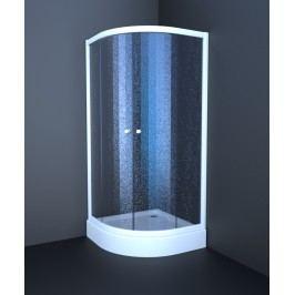 Sprchový kút Anima T-Element štvrťkruh 80 cm, R 550, nepriehľadné sklo, biely profil TES80CH
