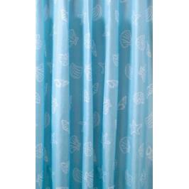 spr.závěs 180x200cm,polyester,modrá,mušl ZP006 - AQUALINE Sprchový záves 180x200cm, polyester, modrá, mušľa (ZP006)