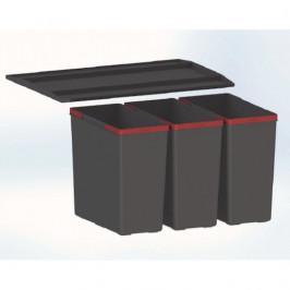 Odpadkový kôš Franke Easysort 600-3-0 3x14,5 l