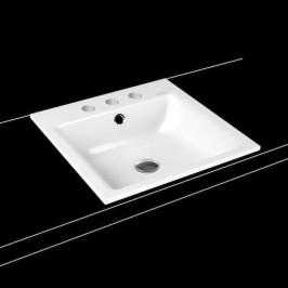 Zápustné umývadlo Kaldewei Puro 3150 46x46 cm alpská biela tri otvory pre batériu 900006033001