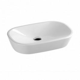 Umývadlo na dosku Ravak Ceramic 60x40 cm bez otvoru pre batériu, bez prepadu CERAMIC60O