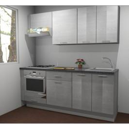 Kuchynská linka Naturel Gia 200-210 cm borovica biela mat KUCHSETG5
