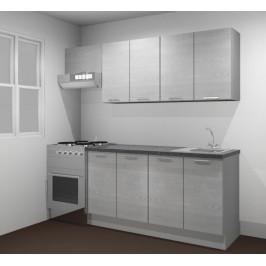 Kuchynská linka Naturel Gia 180-190 cm borovica biela mat KUCHSETG10