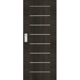 Interiérové dvere Naturel Perma posuvné 60 cm brest antracit posuvné PERMAJA60PO