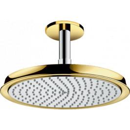 Hlavová sprcha Hansgrohe Raindance Classic strop vrátane sprchového ramená chróm / vzhľad zlata 27405090