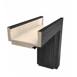 Obložková zárubňa Naturel 70 cm pre hrúbku steny 9,5-11,5 cm brest antracit pravá O2JA70P