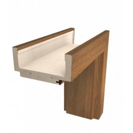 Obložková zárubňa Naturel 80 cm pre hrúbku steny 7,5-9,5 cm orech karamelový pravá O1OK80P
