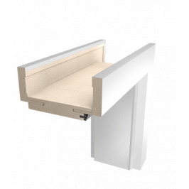 Obložková zárubňa Naturel 80 cm pre hrúbku steny 7,5-9,5 cm biela pravá O1BLAK80P