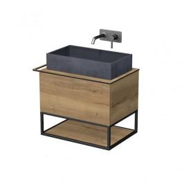 Kúpeľňová skrinka pod umývadlo Naturel Oxo 70x50 cm dub halifax OXO701ZKDL
