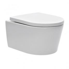 WC závesné Swiss Aqua Technologies Brevis vrátane dosky softclose, zadný odpad SATBRE010RREXP