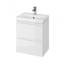 Kúpeľňová skrinka s umývadlom Cersanit Dormo 50x34,5x63 cm biela lesk SIKONCMO006BL