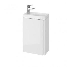 Kúpeľňová skrinka s umývadlom Cersanit Dormo 40x21,5x64 cm biela lesk SIKONCMO014BL