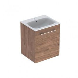 Kúpeľňová skrinka s umývadlom Geberit Selnova 55x50,2x65,2 cm v prevedení orech hickory 501.250.00.1