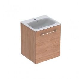 Kúpeľňová skrinka s umývadlom Geberit Selnova 55x50,2x65,2 cm v prevedení svetlý orech hickory 501.251.00.1