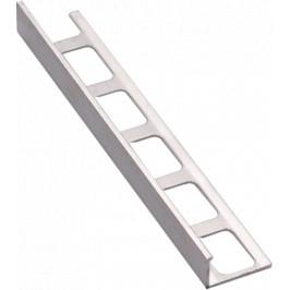 Lišta ukončovacia L hliník elox strieborná, dĺžka 250 cm, výška 11 mm, ALE11250