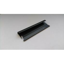 Lišta ukončovacia oblá PVC antracit, dĺžka 250 cm, výška 9 mm, MAPL9114