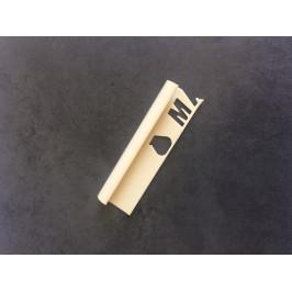 Lišta ukončovacia oblá PVC vanilka, dĺžka 250 cm, výška 9 mm, MAPL9131