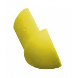Roh k lište oblý PVC žltá, výška 8 mm, LROH8Y