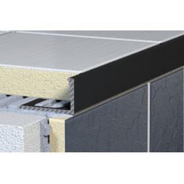 Lišta L hliník komaxit čierna, dĺžka 250 cm, výška 8 mm, ALKMC8250