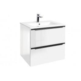 Kúpeľňová skrinka s umývadlom Naturel Nobia 60x60x46 cm biela lesk NOBIA60ZBL