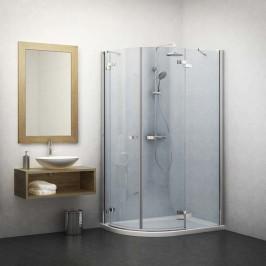 Sprchový kút asymetrický 120x80x201,7 cm Roth Elegant Line chróm lesklý 131-120080P-00-02