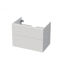 Kúpeľňová skrinka pod umývadlo Naturel Ratio 75,5x56x37 cm biela lesk PN802Z56PU.9016G