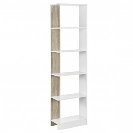 Knižnica - imitácia dreva / biela - 170,5 x 45 x 21 cm