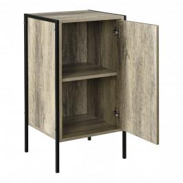 Skrinka - komoda - čierna a imitácia dreva - 78 x 42,5 x 39 cm
