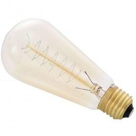 [in.tec]® Antik dekoratívna Edisonova žiarovka - E27 - 230V - teplá biela (2700 K) - ø58 x 130 mm