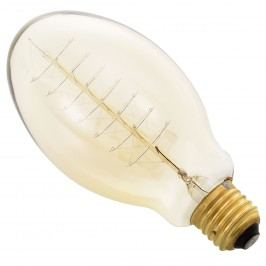 [in.tec]® Antik dekoratívna Edisonova žiarovka - E27 - 230V - teplá biela (2700 K) - ø75 x 140 mm