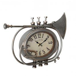 Nástenné hodiny v tvare trúbky - analógové - 68 x 5,5 x 68 cm - farebné - sklo