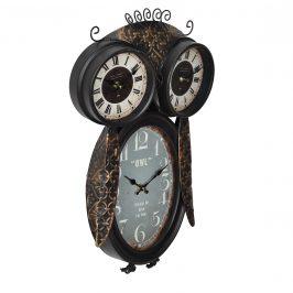 Nástenné hodiny v tvare sovy - analógové - 32 x 8 x 52 cm - farebné - sklo