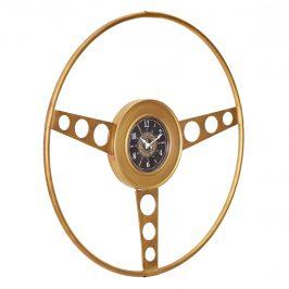 Nástenné hodiny Oldtimer volant - analógové - 68 x 5,5 x 68 cm - farebné