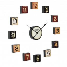 Nástenné hodiny - viacdielne – analógové - farebné – 68 x 4 x 68 cm