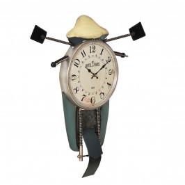 Nástenné hodiny v tvare motocykla - analógové - 47 x 5,5 x 56 cm - farebné
