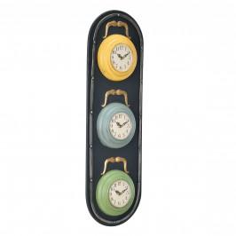 Nástenné hodiny v tvare semafóra - analógové - 25 x 4,5 x 80 cm - farebné