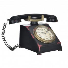 Stolové hodiny v tvare telefónu - analógové - 33 x 20 x 19 cm - farebné