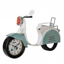 Nástenné hodiny v tvare motocykla - analógové - 78,5 x 14,5 x 51 cm - farebné - sklo
