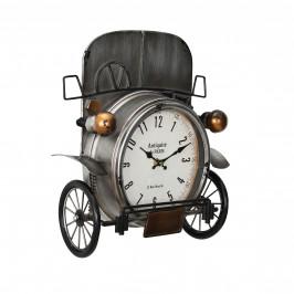 Nástenné hodiny Oldtimer auto - analógové - 33 x 13 x 36 cm - farebné - sklo