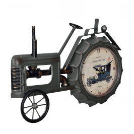 Nástenné hodiny v tvare traktora – analógové - 41 x 3,5 x 27 cm - farebné