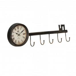 Nástenné hodiny v tvare kľúča - analógové - 88 x 7 x 26 cm - farebné – sklo