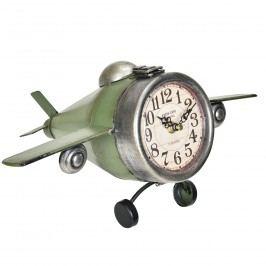 Nástenné hodiny v tvare lietadla - analógové - 36 x 17 x 25 cm - farebné