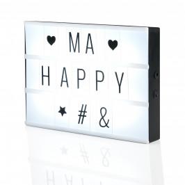 [in.tec]® LED svetelná tabuľa - krabička s písmenami, číslami - dekorácia