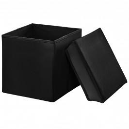 2-v-1 Box na sedenie s odkladacím priestorom - 30 x 30 x 30 cm - čierny - M