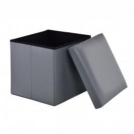 2-v-1 Box na sedenie s odkladacím priestorom - 38 x 38 x 38 cm - sivý - L