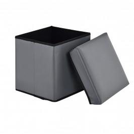 2-v-1 Box na sedenie s odkladacím priestorom - 30 x 30 x 30 cm - sivý - M